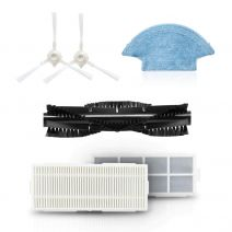 360 Robot Cleaner Accessories Combo Side Brushes Washable Filter Main Brush Mopping Cloth for S7