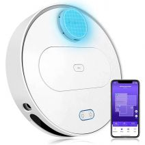 360 S6 Robotic Vacuum Cleaner with Wet Mopping Function APP Control, LDS, Intelligent Navigation, 1800Pa Suction Power, HEPA Filter for Animal Hair, Carpets and Hard Floors (White)