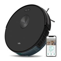 Trifo Ironpie m6+ Robot Vacuum Cleaner with Water Tank, 3 in 1 Mopping & sanitizing Vacuum Robot, 1800Pa Strong Suction, Remote Monitoring, Self-Charging, Wi-Fi Connectivity, Hard Floor to Low-Pile Carpet, Black